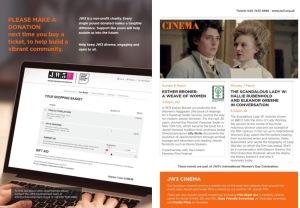 JW3 Jan-Apr Programme